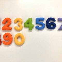 Rainbow colour Felt Numbers set