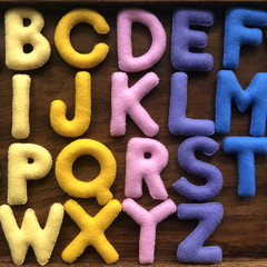 Uppercase Warm Colour Felt Alphabet
