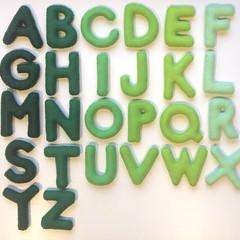Green Felt Alphabet