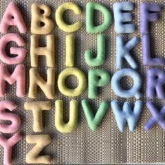 Uppercase Pastel Rainbow Felt Alphabet