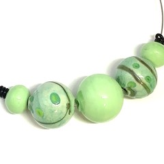 'Growth' necklace - hand blown one-of-a-kind glass bead necklace
