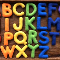 Uppercase Rainbow Felt Alphabet