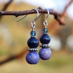 Navy Blue Beatrice Earrings