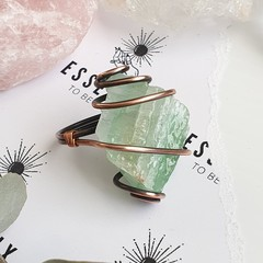 Green Calcite Statement Ring