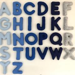 Blue Uppercase Felt Alphabet