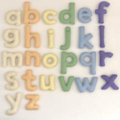 Pale Colour Felt Alphabet