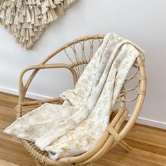 Eucalyptus  in golden baby blanket
