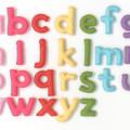 Warm Pink Colour Lowercase Alphabet