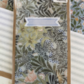 Monthly planner with William Morris paper cover