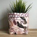 Small fabric planter | Storage basket | Black cockatoo