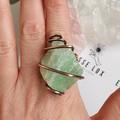 Green Calcite Statement Ring