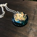 Handmade Ocean Beach Design Glass Disc