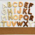 Magnetic felt alphabet, magnetic letters, fridge magnets, magnets for children,
