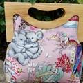 Pink Australian tales handbag