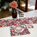 Australian native floral reversible placemat - Aussie floral