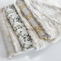 Pampas in natural baby blanket