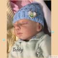 Baby blue Pixie Beanie