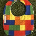 Building Blocks Bib ~ LEGO ~ feeding Bib