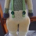 Murray the Monkey - crochet unisex, washable, OOAK by CuddleCorner