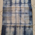 Blue Shibori Linen Table Runner