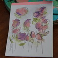 Watercolour Ruled Notepad - Flower Bunch