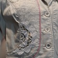 Upcycled Linen /Cotton Classic Lace Vintage inspired Jacket