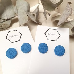 Embossed Beauties- Shades of blue Studs