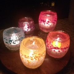 Baby's breath Flower candle holders