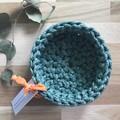 Crochet basket | essential oils | home decor | storage basket | GREEN MARLE