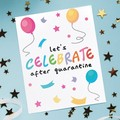 Quarantine birthday card, social distance birthday card, birthday card