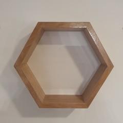 Tasmanian Oak Hexagonal Shelf
