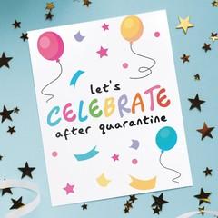 Quarantine birthday card, social distance birthday card, birthday card