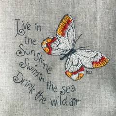 'Live in the Sunshine' - Original Hand Embroidery Pattern or Kit