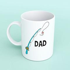 Mug for Dad, mug for Father's Day, fishing mug, Dad mug, fishing Dad mug