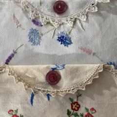 Linen lingerie pouch
