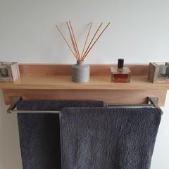 Tasmanian Oak Bathroom Organiser