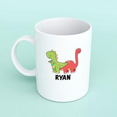 Dinosaur mug, childrens dinosaur mug, personalised dinosaur mug, custom dinosaur