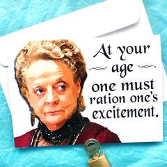 Violet Crawley, Downton Abbey Funny Birthday Card