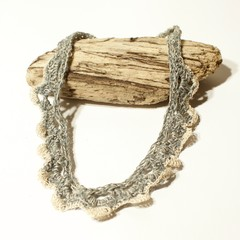 Fine Crochet Necklace in ethically sourced Blue Yarn