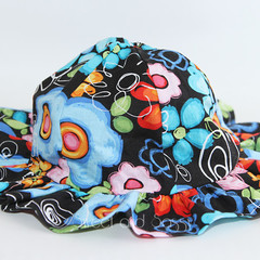 Multi-Coloured Flower Sun Hat. Sizes 0-6 months - 1-3 years