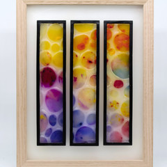 Three Of Bubbles Wax Painting Light Box