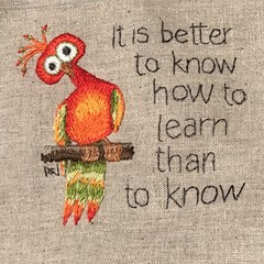 'It is better to know how to learn' - Original Hand Embroidery Pattern or Kit
