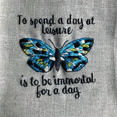 'To spend a day at Leisure' - Original Hand Embroidery pattern