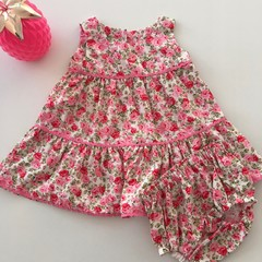"Size 18 Months ""Garden Roses' Party Dress for Babies"
