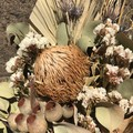 Natural Elegance- Dry bouquet- Dried flowers - 40cm - Natural, white - Poppy gum