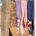 Scarves with dolls, 100% Aussie wool, handmade