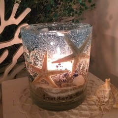 Ocean themed candle holder - Round type