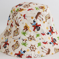 Pirate Bucket Hat. Sizes 12-24 months - 4-10 years
