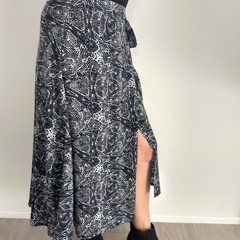Tribal Calf Length Wrap Skirt (Medium)