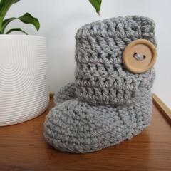 Grey Little Boots